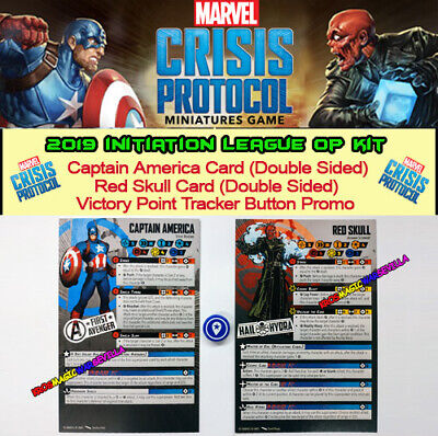 MARVEL CRISIS PROTOCOL 2019 Initiation League Op Kit -Captain America, Red Skull