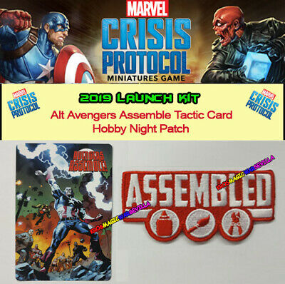MARVEL CRISIS PROTOCOL 2019 Lauch Kit Op - Avengers Assemble + Hobby Night Patch