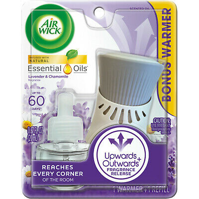 Air Wick plug in Scented Oil, Starter Kit, Lavender Chamomile 1ct