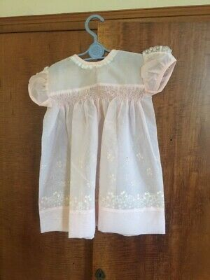 Vintage girls pink terlene dress age 2-3 years old excellent condition