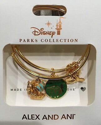 Disney Alex & And Ani Peter Pan Never Grow Up Jolly Roger Gold Bracelet
