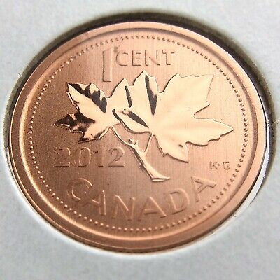 2012 Specimen Canada 1 One Cent Penny Uncirculated Canadian Coin N586