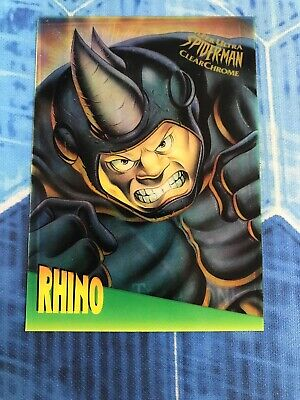 SPIDER-MAN 1995 FLEER ULTRA CLEARCHROME INSERT CHASE CARD 4 OF 10 KRAVEN MA
