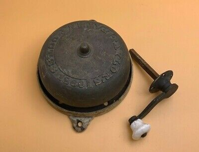 Taylor Crank Type Brass Doorbell Patent OCT.23 1860 As Found Condition