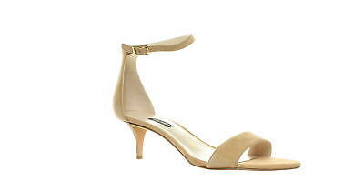 Nine West Womens Leisa Beige Ankle Strap Heels Size 10 (324251)