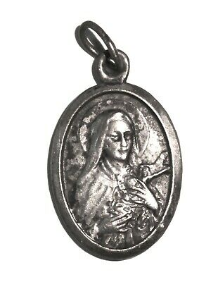 Vintage French Saint Therese Religious Pendant/ Lisieux Cathedral