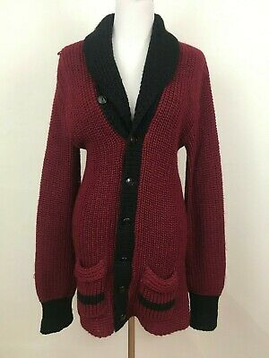 Vintage 1950s Kurl-King Curling Sweater Rare Colorway Canadian Red Black / As Is