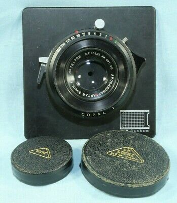 C.P. GOERZ AMER OPT APO (Red Dot) ARTAR 9.5 INCH F:9 IN COPAL NO 1 SHUTTER MINT