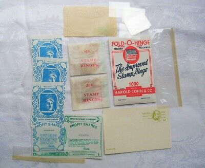 1600 Fold-O-Hinge STAMP LOT Display envelopes Tri-fold Pre-paid postcards 14-19c