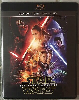Star Wars: The Force Awakens Blu Ray + DVD + Digital HD Episode VII JJ Abrams