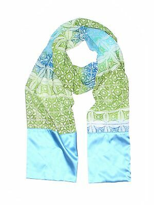 NEW Susan Graver Sheer Printed Floral Infinity Eternity Scarf Black Blue Green