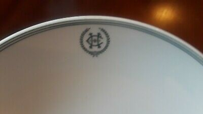 C H Historical Hotel China Compote Marked M L China