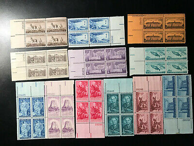 US 1956 Complete COMMEMORATIVE STAMP YEAR SET Blocks of 4 Mint Unmounted MNH