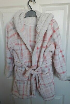 Girl's Hooded Fluffy Dressing Gown from Matalan - Age 9