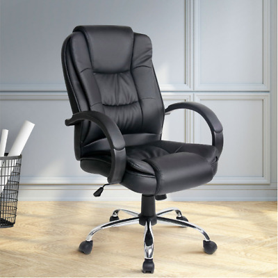 Artiss Office Chair Computer Chairs Executive Leather Seating Home Work Black
