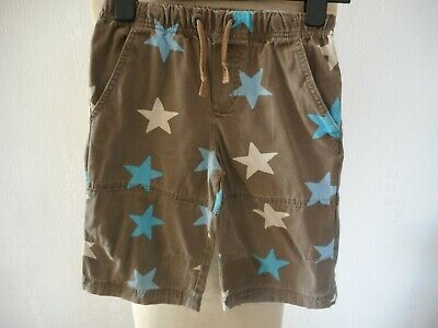 Mini Boden Multi Star Baggies, Grey, Blue & White Cotton Trousers Age 4-5 Years