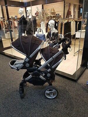 ICandy Peach 2 Double Pram & additional Leather Handle and Bumper bar RRP$1500