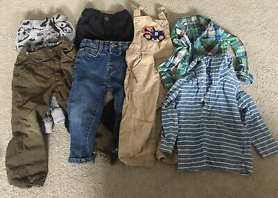 Boys Clothes Age 2-3 Years bundle Trousers Dungarees Shirt Top Baby Boden Gap