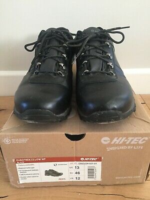 Hi Tec EuroTrek II Low WP size 12/46 Black Waterproof Leather Breathable