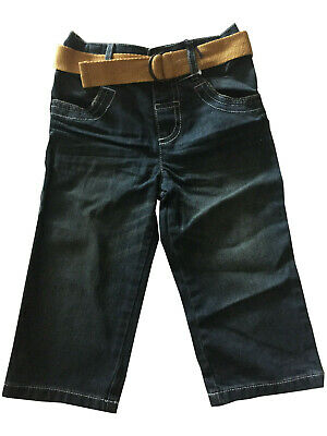 BNWOT Boys Denim Straight Cut Belted Jeans  Age 2-3 years