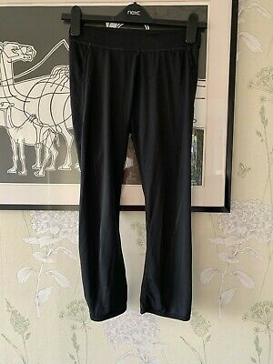 Girls Black Cropped Sports Leggings From H&M SPORT - Size EUR 170