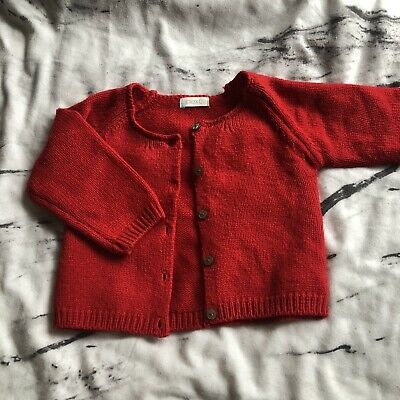 next 6-9 months girls Red Knitted Cardigan