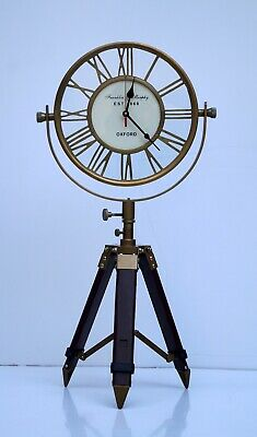 Antique floor clock Retro telescopic tripod stand adjustable decor gift item