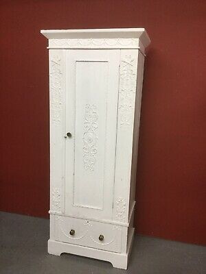 Antique Pine Painted Single Wardrobe Sn-653b