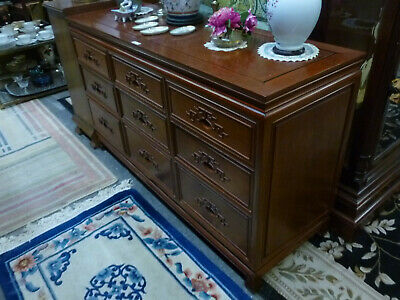 Chinese teak chest of drawers, modern