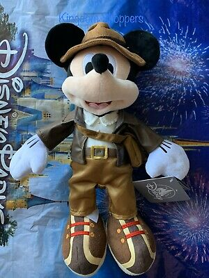 2020 Disney Parks Mickey Mouse As Indiana Jones Plush New Hollywood Studios