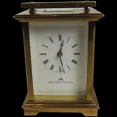 Matthew Norman 1754 Swiss Carriage Clock in Original Box With Documents and Key