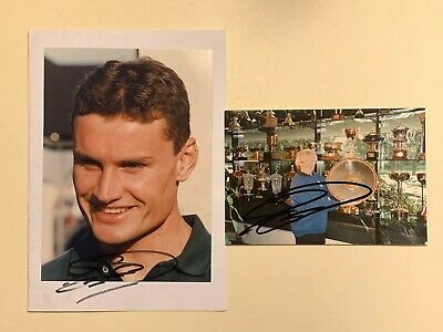 David Coulthard Signed Formula One Photograph Set Size 7 X 5 Approx