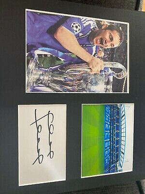 Frank Lampard Chelsea HAND SIGNED Autograph Photo Mount