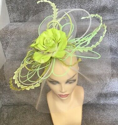 Green Fascinator Ideal For Races, Wedding, Etc