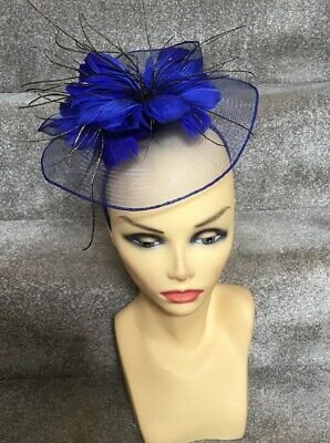 Brand New Small Blue Fascinator Ideal For Races, Wedding, Etc