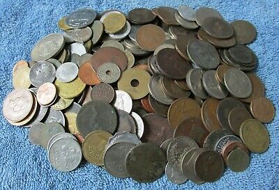 Clearance Lot of 175+ Old Coins Tokens-Great Britain & World Fun Mixed Group
