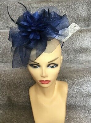 Blue Fascinator With Headband Brand New Ideal For Races, Wedding