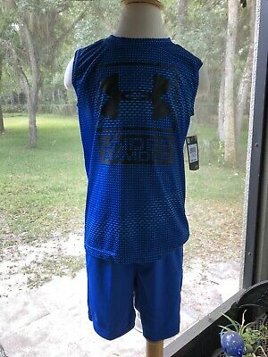 NEW with Tags  Boys Size 5 2 piece Shorts & Shirt  set by UNDER ARMOUR