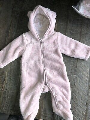 The Little White Company Pink Baby Girl Fleece All In One