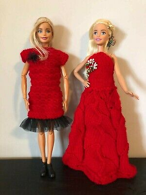 Knitting Barbie clothes / Handmabe / Dress for Barbie / Accessories for Barbie