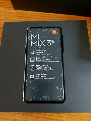 "Xiaomi Mi Mix 3 5G 6.39"" 6GB 128GB Sapphire Blue Unlocked Global version"