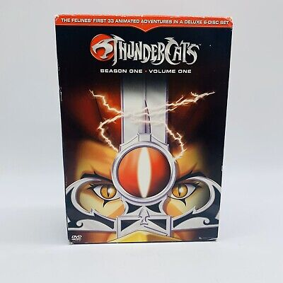 THUNDERCATS Season One Volume One DVD Set Discs 1 2 3 4 5 6 COMPLETE Used Clean