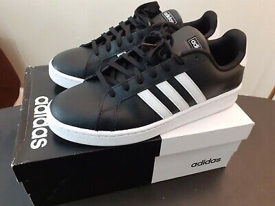 Men Adidas Grand Court shoe F36393 Color Black/White new with box size 13