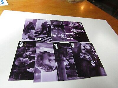 STAR WARS B&W RETURN of the JEDI  PURPLE HUE PARALLEL LOT 16 CARDS. No Dups #/25