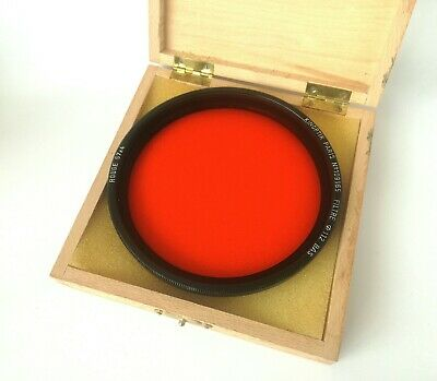 vintage Kinoptik Paris 112mm rouge R 57 filter lens bay red bas Angenieux