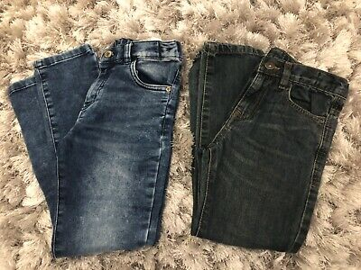 2 pairs of Boys Fashion Jeans Trousers Age 7/8  Ex Cond Hardly Worn
