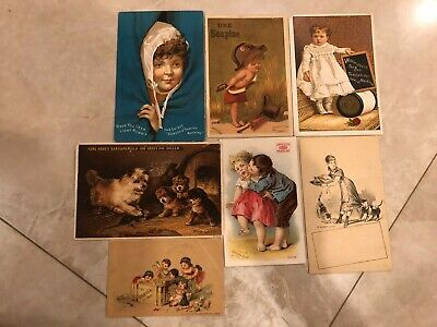 Mixed Lot of Trading Card Advertisement Antique Vintage Sewing,Chocolate,Medic