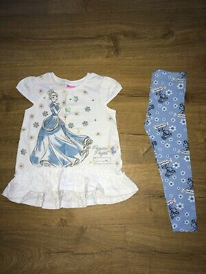 Disney Cinderella Girls Tunic Top & Leggings Outfit - Age 3-4 Years - Bnwot