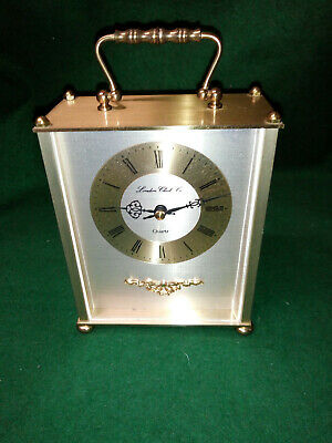 Large Vintage `London Clock Co` Mantle Or Carriage Clock