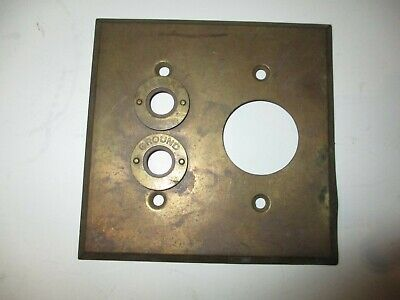 Antique knob and tube Solid Brass toggle Light Switch Cover Plate outlet Rare